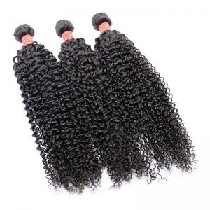 China Soft Cuticle Aligned Hair Kinky Curly Machine Double Weft Can Be Dye And Bleach on sale