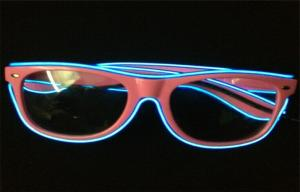 China Eco - friendly Night Club Promo El LED Glow Sunglasses With Electro Luminous Wire on sale