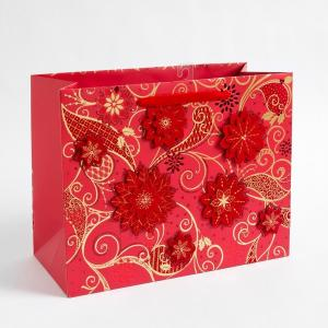 China Multilayer 157 Gram Art Paper Gift Bags Custom Printed , Shopping Gold / Silver Hot Stamping on sale