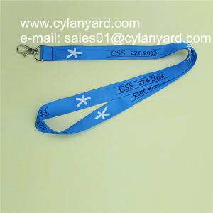 China Discounted sublimation neck strap with metal trigger clip, on sale
