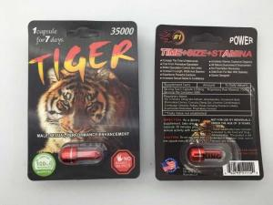 China Tiger 35000 Sexual Enhancement Pill 3D Male Herb Ingredient 3 Years Guarantee on sale