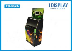 China Black Corrugated Retail Cardboard Pallet Display Stand With Electronic Display on sale