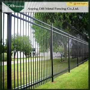 China Outdoor Wrought Iron Security Fence / Powder Coated Picket Fencing For Garden on sale