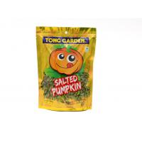 Ziplock Bottom Gusset Salted Pumpkin Snack Reclosable Bags Standing Pouch