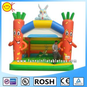 China Happy Rabbit Tree Commercial Bounce House Sewing Eco - Friendly on sale