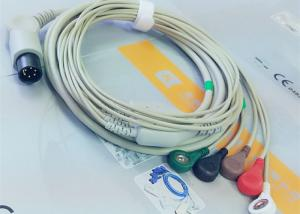 China M&B 6 Pin Snap AHA ECG Patient Cable For Medical Equipment , Electrode Lead Wires on sale
