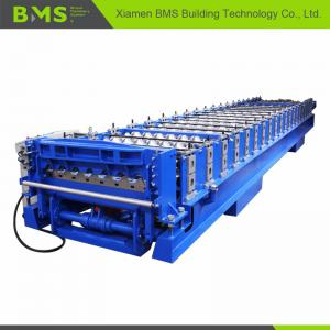 China Corrugated Roof Roll Forming Machine , Corrugated Roof Iron Sheet Making Machine on sale