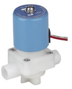 China Mini RO Auto Shut Off Valve , Plastic Water Solenoid Valve Direct Acting on sale