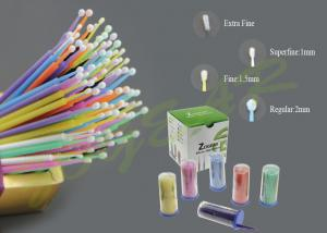 China Dental Micro Applicator Brushes , Non-lint fibers Micro Tip Applicator on sale