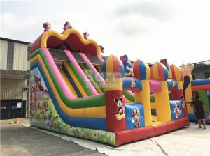 China Customized Mickey Mouse Inflatable Jumping Castle Slide For Backyard on sale