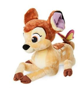 China Bambi with Butterfly Medium Disney Store Soft Toys 25cm Size Brown Color on sale