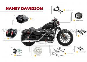 China Oem CNC Aluminum Stainless Steel Polished Harley Harley Davidson Motorcycle Accessories on sale