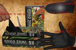 China Black Latex Gloves Tattoo Medical Supplies Full Flexibility No Smell And Sweat on sale