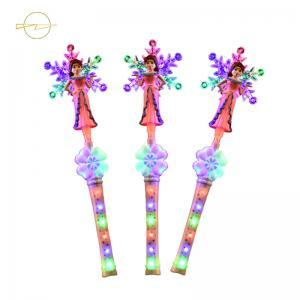 China Battery Powered Fairy Princess Wand Light Up Snowflake Wand Customize LEDs on sale