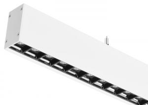 China SMD3030 Office Led Linear Lighting Fixture 65 - 70lm/W Aluminum White Black on sale