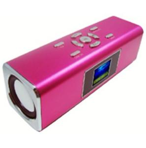 China TT-3 Pink, 3 colour  LCD screen, 550mAH, NIZHI Mini Speaker connect with mp3, ipod, Iphone on sale