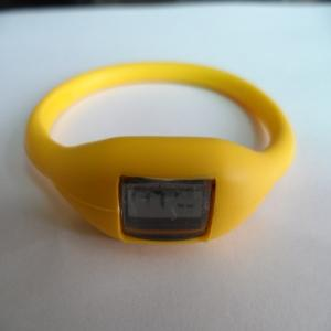 China Colorful Custom Silicone Band Watch , Christmas Silicone Rubber Wristband Watch Pedometer on sale