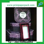 Design Series Cotton Filled Jewelry Box Shimmer Bow Tie Jewelry Boxes Custom Gift Box