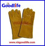 cow leather kevlar safety welding gloves