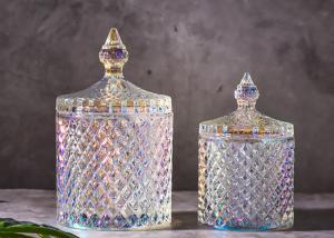 China Super Glass Gift Jar For Wedding / Clear Glass Candy Jar With Lids , Long Life on sale