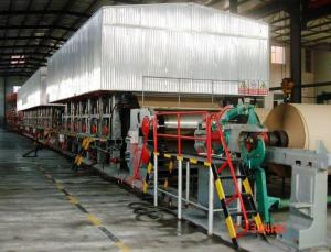 China 2100mm-2200mm Kraft paper making machine,1575 type Corrugated paper machine on sale