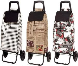 China Foldable Supermarket Shopping Trolley Bag with Laminated Non Woven Fabric on sale