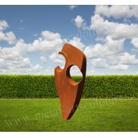 China Abstract Corten Sculpture Original Color Metal Sculpture Artist Outdoor Lawn Decoration on sale