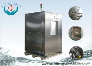 China Laboratory Research Double Door Veterinary Autoclave With Pre Vacuum Function on sale