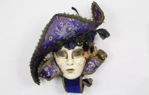 China Mens Plastic Fashion Venetian Jester Mask For Halloween Carnival on sale