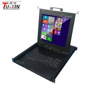 China 17 inch Single port 1U rackmountLED KVM console with TUXIN on sale