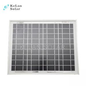 China Small Size Mono Silicon Solar Panels10 Watt Silver Frames 2% Module Efficiency on sale