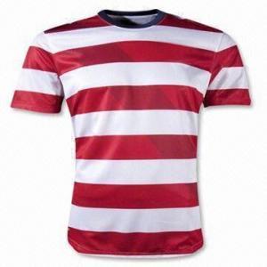 China Soccer Jersey, Custom Polyester Soccer Jerseys Uniforms on sale