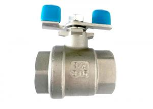 China Butterfly Handled 304 Stainless Steel Ball Valve CE Certificate on sale