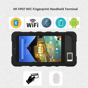 China 7 Inch Black 3G FBI Cerificated Fingerprint Barcode Scanner  Handheld Biometric  Device for School Time Attendance on sale