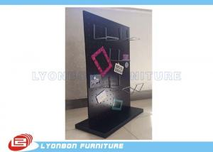 China Wallet Display Selling Wooden Display Stands MDF Magnetic Display With Metal Hooks on sale