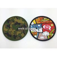 Custom anti-slip soft pvc round shape 2d with any image design coaster