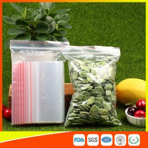 Quality Plastic Tight Seal Ziplock Bags Packing Ziplock Bags With Zipper Red Line for sale