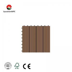 China Sunshien WPC PVC Interior DIY decking tile,Plastic deck for Bathroom Tiles on sale