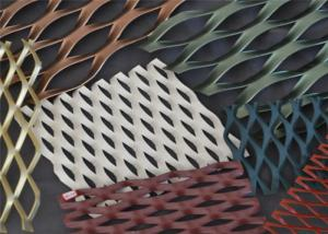 China Decorative Aluminum Expanded Metal Mesh Facade Cladding Woven Wire Mesh on sale