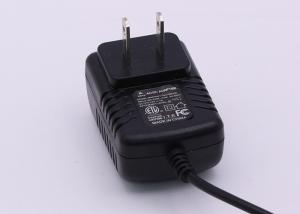 China 12 Watt Switching AC DC Power Adapter Black Low Ripple 5V - 24V DC Output on sale