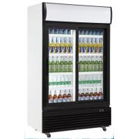 China Double Glass Door Chiller , 1010L Commercial Bar Fridge With Glass Door on sale