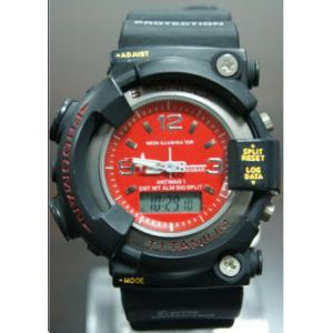 China Big Case S Shock Analog-digital Watch , Stainless Steel Back Water Resistant Watch on sale