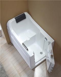 China 4mm Thickness Acrylic Safe Step Walk In Tub With High Backrest One Side Open on sale