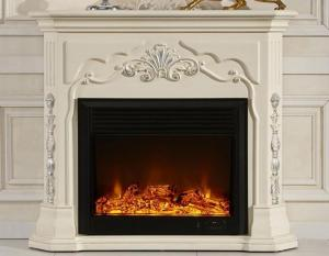 China White European Electric Fireplace Decorative Freestanding Electric Fireplace on sale