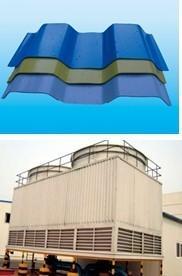 China Enveloppe de tour de refroidissement de la fibre de verre FRP et voie de garage, panneaux de plate-forme de FRP, mur de tour de refroidissement on sale