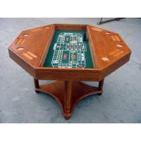 4 In 1 Casino Game Table For Club , Poker Dining Table With Veneer Roulette