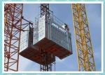 2 Ton Twin Cage Construction Hoist Elevator Rental For Building
