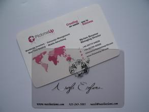 China pvc business card on sale