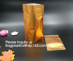 China Stand Up Resealable Pouch Vacuum Metalized Nylon Retort Frozen Food With Tear Notch on sale