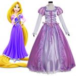 Women's Girl's Tangled Rapunzel Princess Dress Costume Cosplay For Party